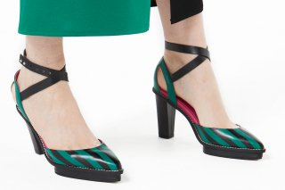 【FLEI】STRIPED SANDAL<br>GREEN<img class='new_mark_img2' src='https://img.shop-pro.jp/img/new/icons20.gif' style='border:none;display:inline;margin:0px;padding:0px;width:auto;' />の商品画像