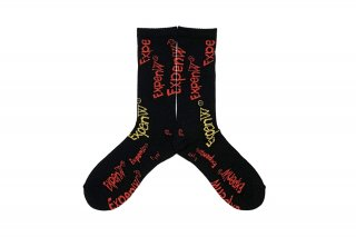 <b><font color='red'>NEW</font></b><br>MENS/ExpenW PATTERN SC<br>BLACK×MULTI
