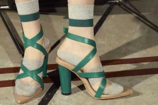 【FLEI】CROSS STRAP PVC SANDAL<br>GREEN