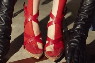 【FLEI】CROSS STRAP PVC SANDAL<br>RED