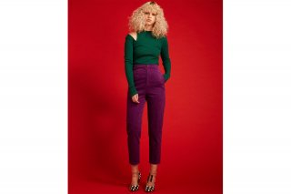 【FLEI】HI-WAIST CORDUROY PANTS<br>PURPLE<img class='new_mark_img2' src='https://img.shop-pro.jp/img/new/icons20.gif' style='border:none;display:inline;margin:0px;padding:0px;width:auto;' />