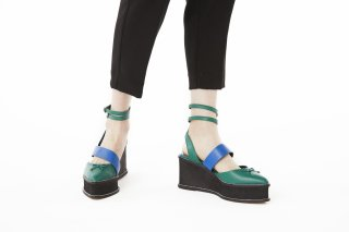 【FLEI】ASYMMETRIC BALLET SHOES<br>GREEN×BLUE<img class='new_mark_img2' src='https://img.shop-pro.jp/img/new/icons20.gif' style='border:none;display:inline;margin:0px;padding:0px;width:auto;' />の商品画像
