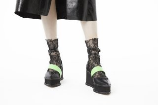 【FLEI】ASYMMETRIC BALLET SHOES<br>BLACK×NEONGREEN<img class='new_mark_img2' src='https://img.shop-pro.jp/img/new/icons20.gif' style='border:none;display:inline;margin:0px;padding:0px;width:auto;' />の商品画像