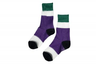 <b><font color='red'>NEW</font></b><br>SEE-THROUGH COLOR BLOCK SC<br>GREEN×PURPLE×BLACK