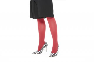 <br>SLIM FIT RIBBED TIGHTS<br>REDの商品画像