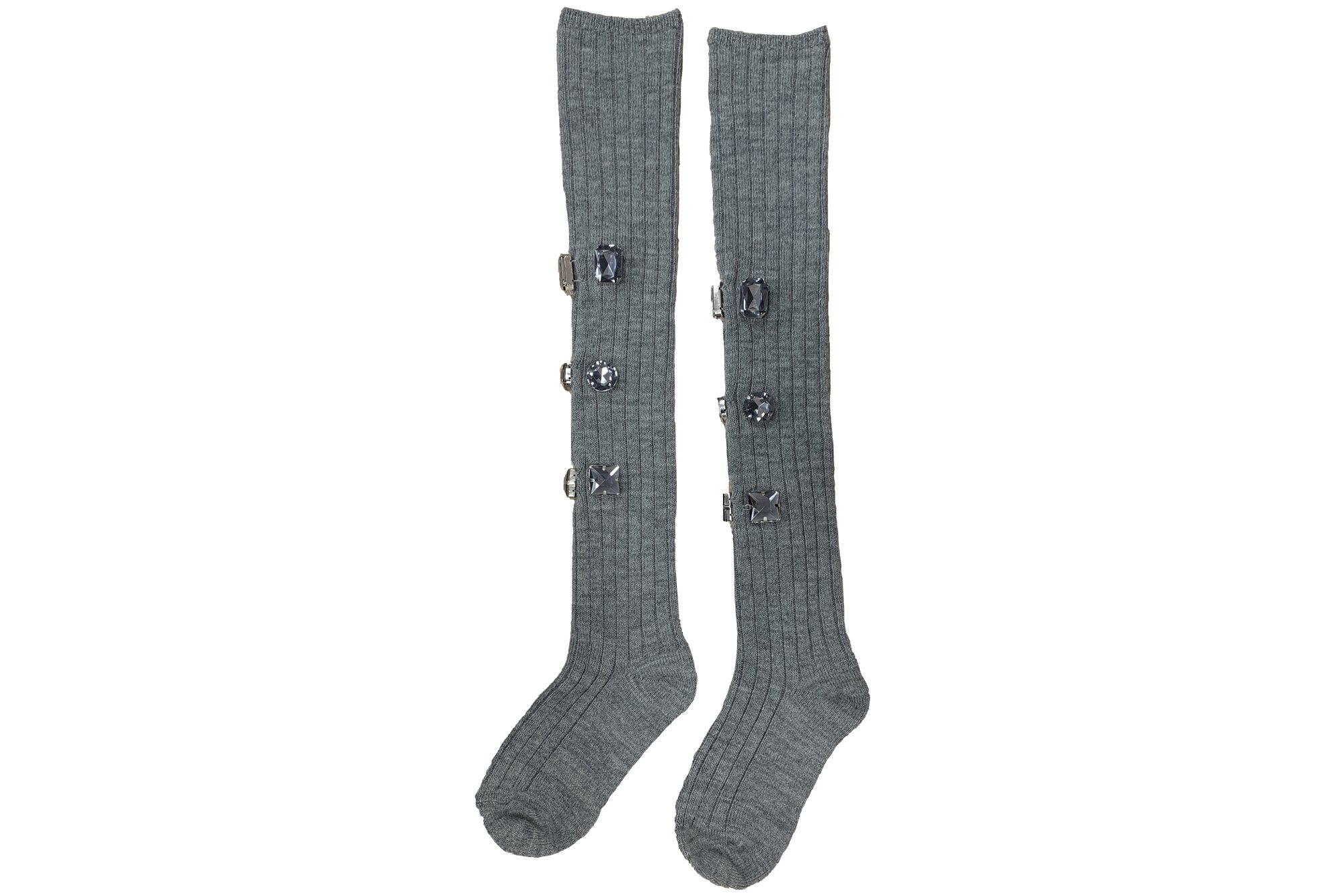 <b><font color='red'>NEW</font></b><br>LINED BIJOUX KNEE-HIGH SC<br>GRAY