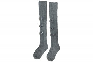 <b><font color='red'>NEW</font></b><br>LINED BIJOUX KNEE-HIGH SC<br>GRAYの商品画像