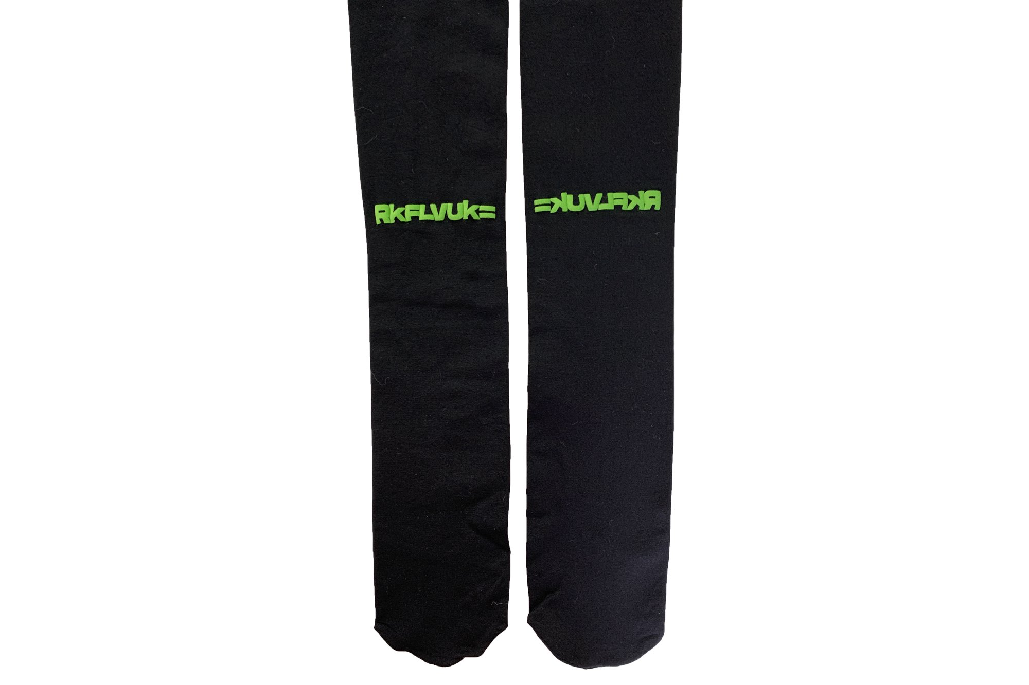 <b><font color='red'>NEW</font></b><br>LOGO PRINTED TIGHTS<br>BLACK×NEONGREEN