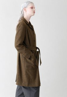 British wool long coat