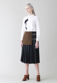 < pre-order >unit tweed skirt
