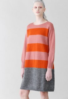 mohair border knit one piece
