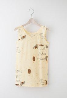 backside print jersey tank top