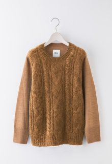 cable stich mohair knit pullover
