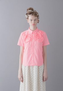 gingham check motif shirt