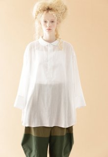 cotton tencel voile blouse