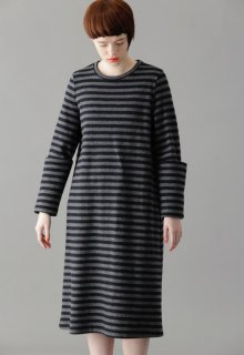 wool tenjiku border one-piece