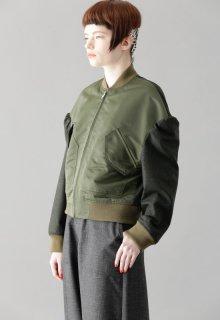 combination flannel blouson