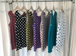 archive textile dot tank top