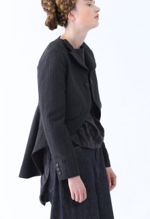 < pre-order > wool linen stripe jacket