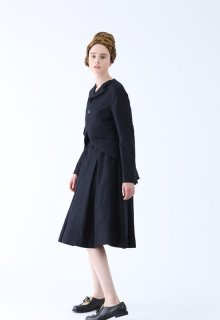 < pre-order > wool linen stripe skirt