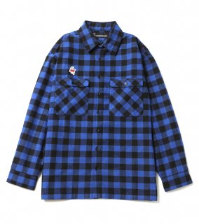 <img class='new_mark_img1' src='https://img.shop-pro.jp/img/new/icons1.gif' style='border:none;display:inline;margin:0px;padding:0px;width:auto;' />GHOST CHECK SHIRTS (BL)