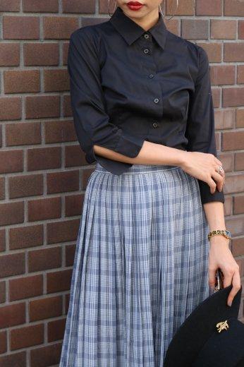 【vintage】PRADA / standard collar black shirt