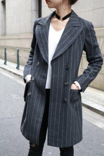 stripe double coat