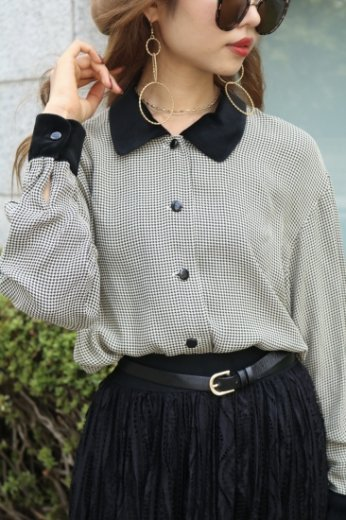 velours docking blouse