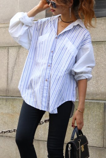 Calvin Klein / stripe over shirt