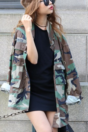 US army remake military long jacket