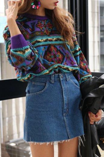 Bohemian knit tops