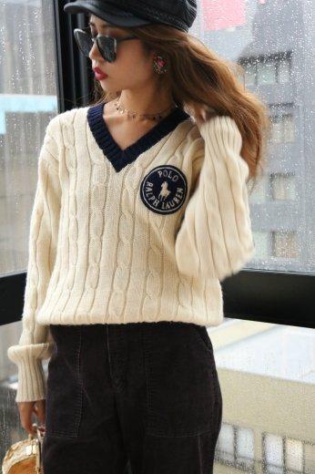 Ralph Lauren / logo wappen wool knit