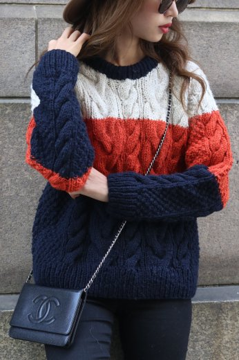 mulch color wool knit