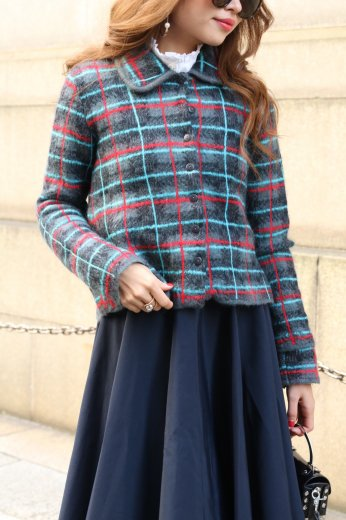 KENZO / 3way check knit ensemble