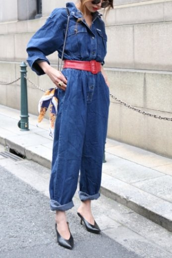 【vintage】indigo denim all in one
