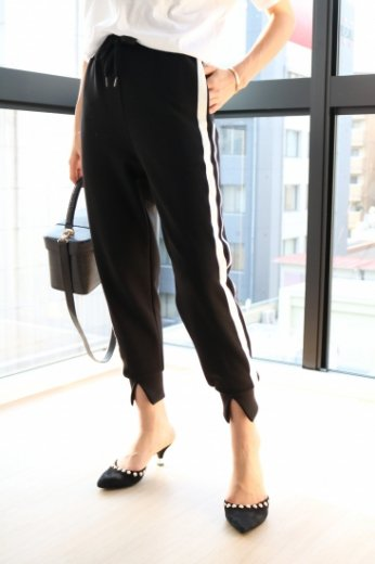 side line black easy pants