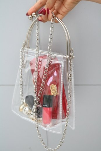2way coin clear chain bag