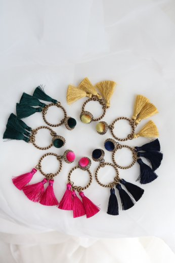 6 tassel earrings