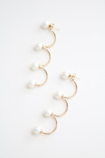8 pearl arch earrings