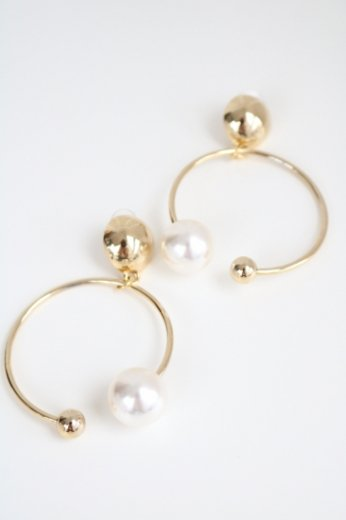 2pearl hoop earrings