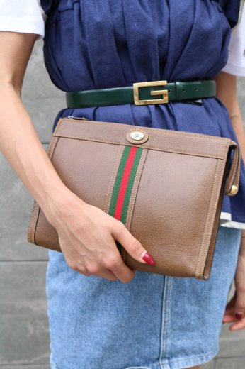 【vintage】GUCCI / old leather clutchbag