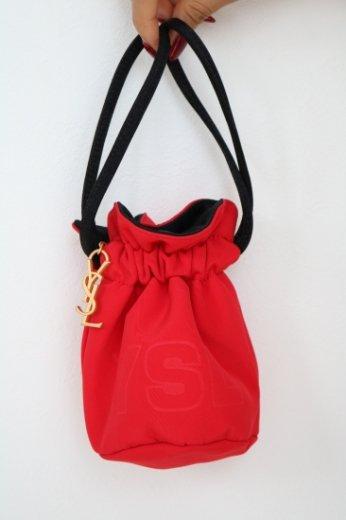 【vintage】Yves Saint Laurent / logo charm purse
