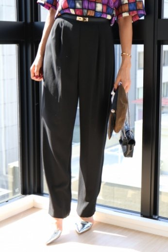 【vintage】black tapered pants