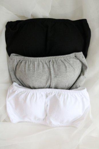 bare top / black・white・gray
