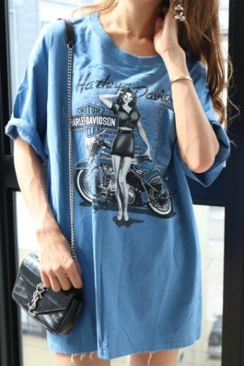 【vintage】Harley-Davidson / classic design big T shirt