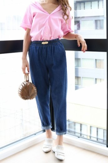 【vintage】 US 80's denim easy pants