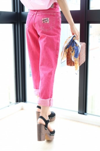 【vintage】US 80's high waist color denim pants