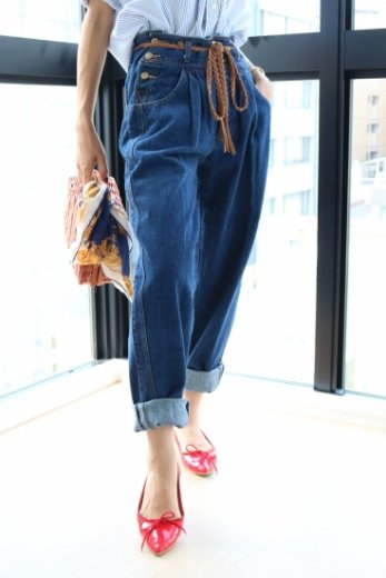 【vintage】US 80's button design boys denim pants