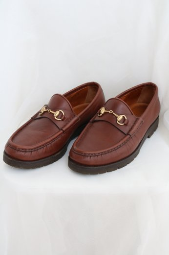 【vintage】GUCCI / horsebit loafer / brown