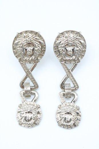 【vintage】VERSACE / medusa motif swing  silver earrings
